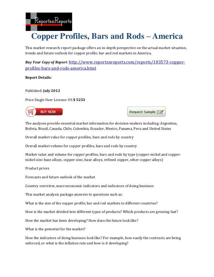 Copper profiles, bars and rods – america