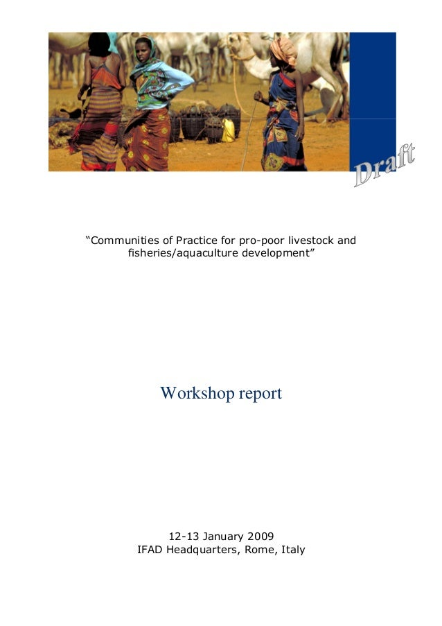 """Communities of Practice for pro-poor livestock and      fisheries/aquaculture development""              Workshop report  ..."