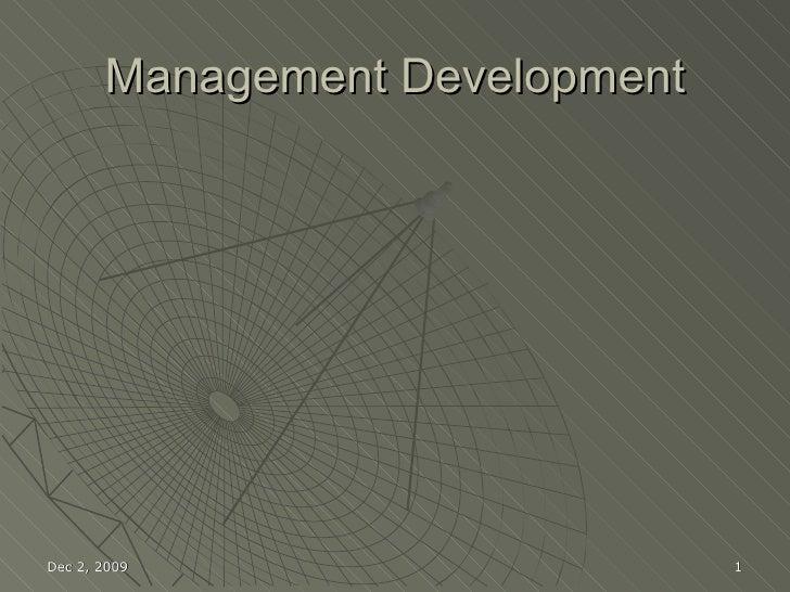 Management Devlopment