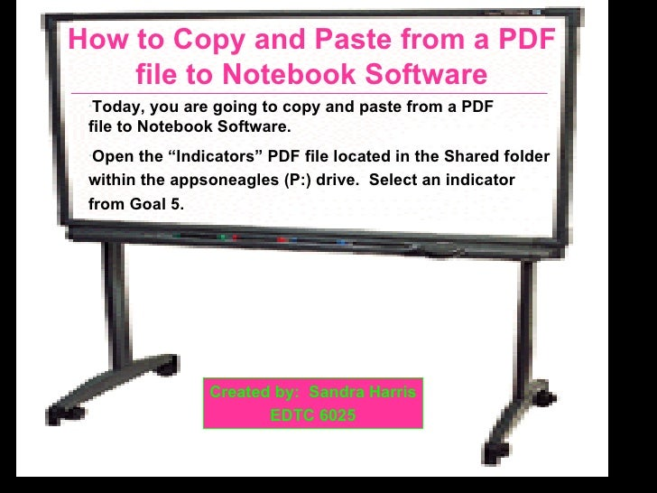 Copy and paste pdf to notebook software for In this house copy and paste