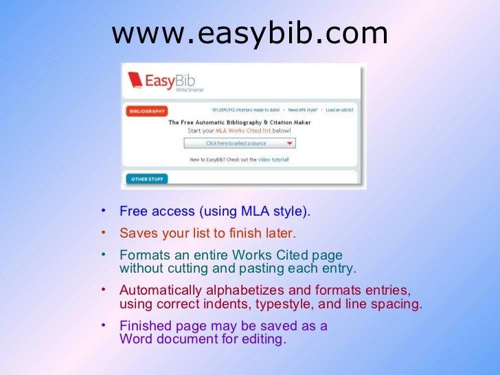easy bib apa style
