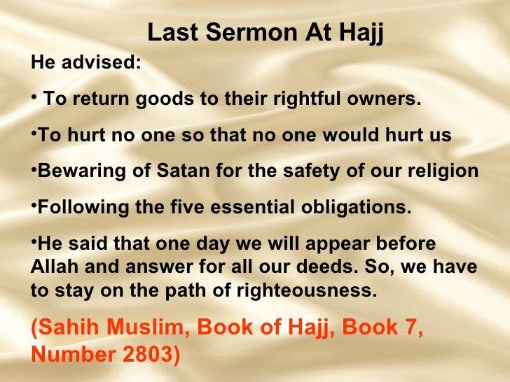 Prophet Muhammad'-s Last Sermon   Islam Pictures