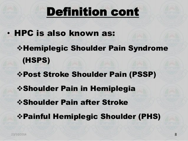 Hemiplegia Defined