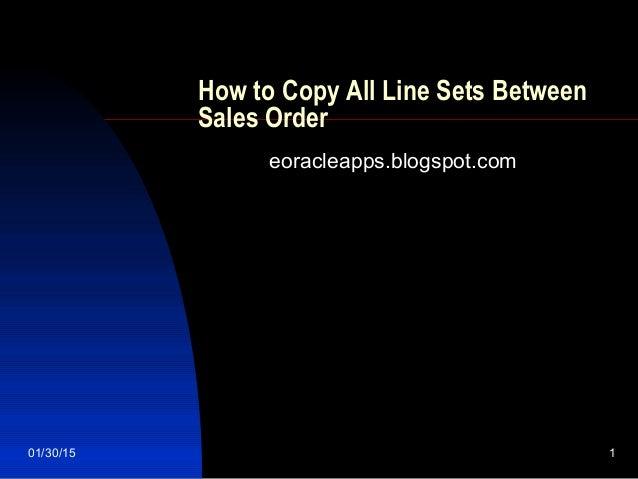 Copy All Line Sets