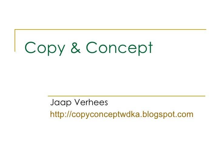 Copy &  Concept 3