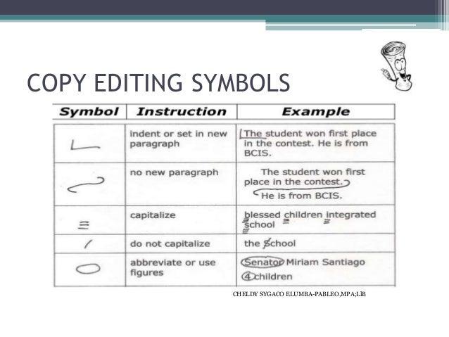 Revising and editing symbols