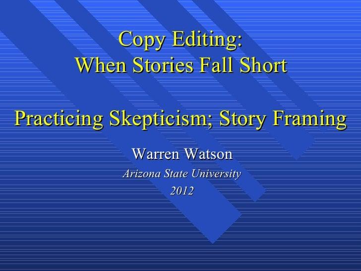 Copy editing, skeptical editing