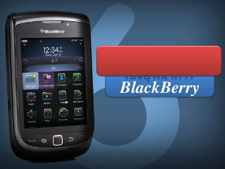 การวางแผน<br />การสื่อสารการตลาดเชิงบูรณาการ<br />BlackBerry<br />