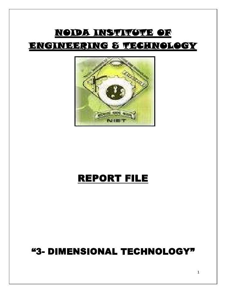 Copy of 3 d report