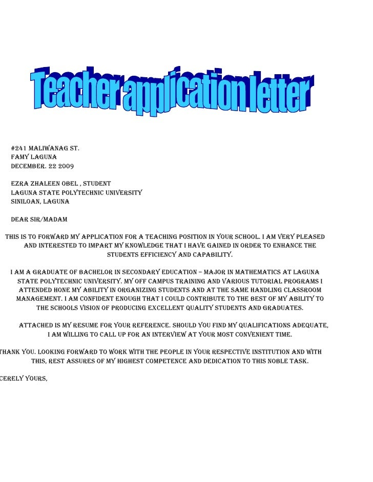 Application letter for physical education teacher - Physical ...