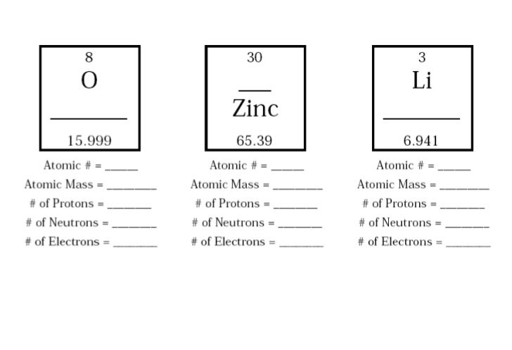 Atomic Mass And Atomic Number Worksheet Virallyapp Printables – Protons Neutrons and Electrons Worksheet