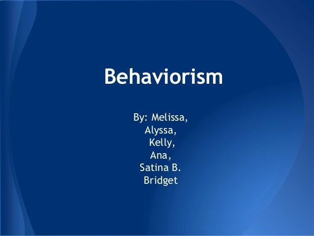 Copy of behaviorism