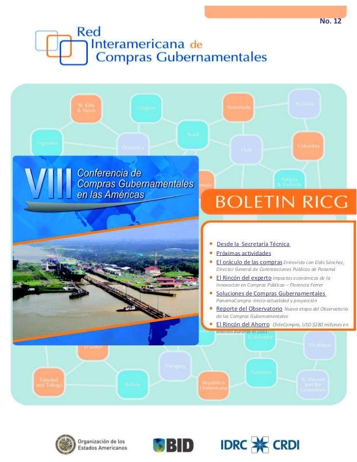 ISSN 2224-4956       Julio-Agosto 2012          No. 12• Desde la Secretaría Técnica  H• Próximas actividades• El oráculo d...