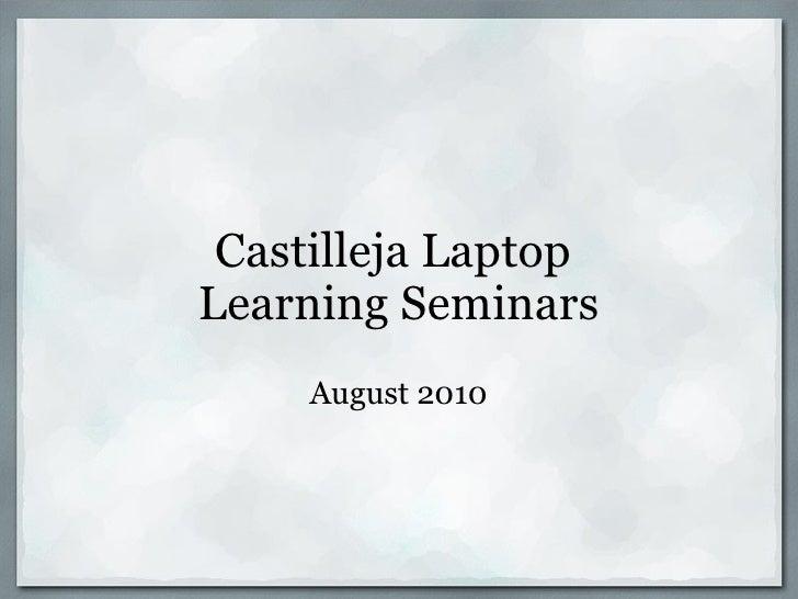 Laptop Learning Seminars