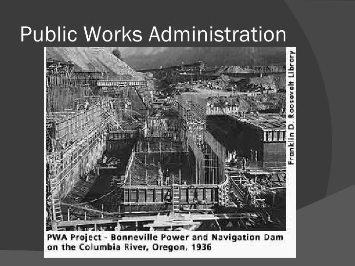 Public works administration projects