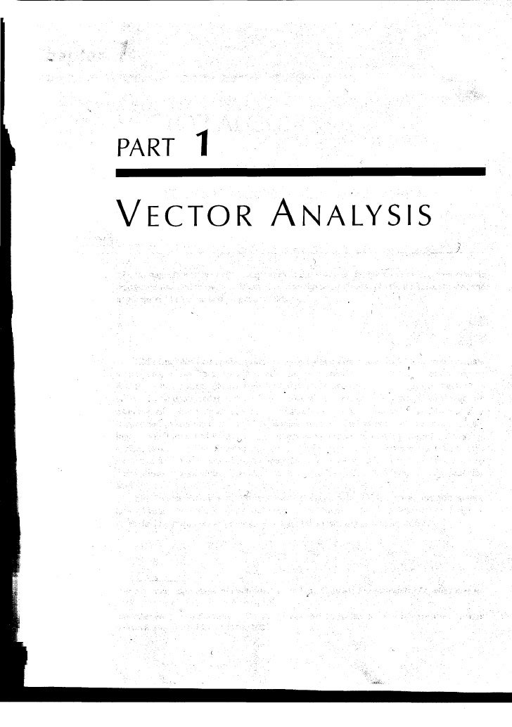PART 1  VECTOR ANALYSIS