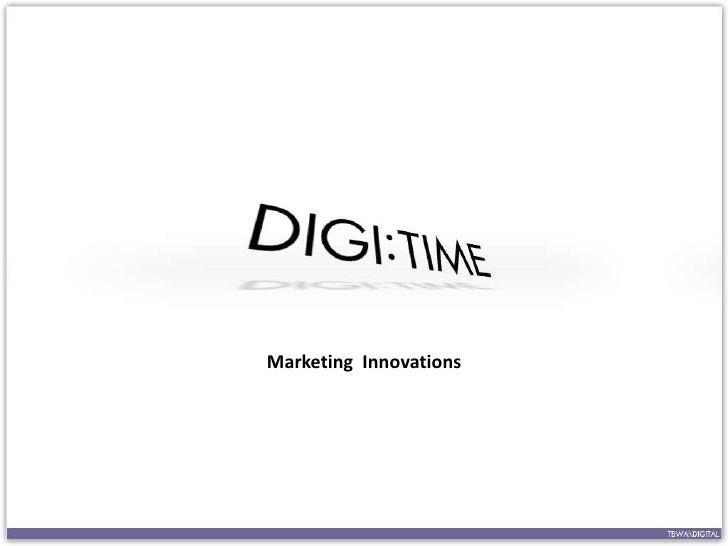 Marketing Innovations<br />