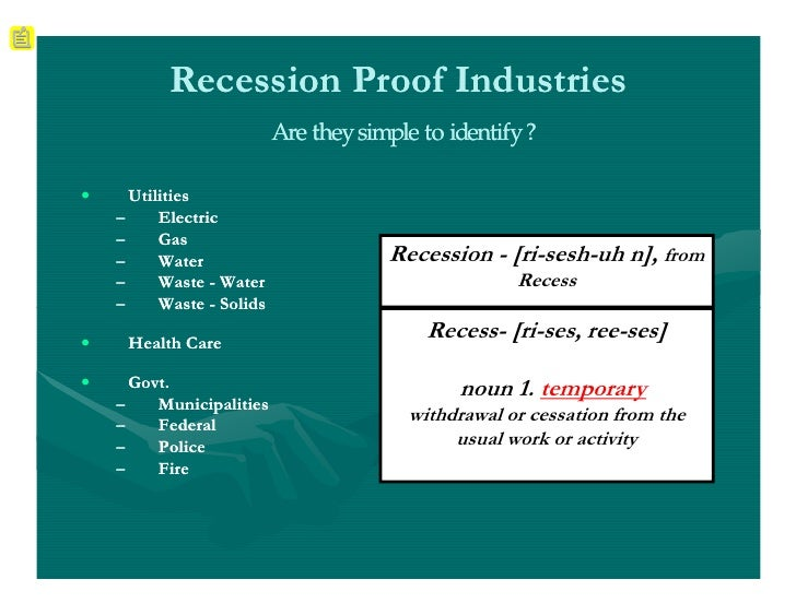 Proof we are not in a recession?
