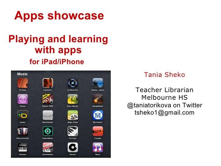 Educational iPad/iPhone Apps Showcase