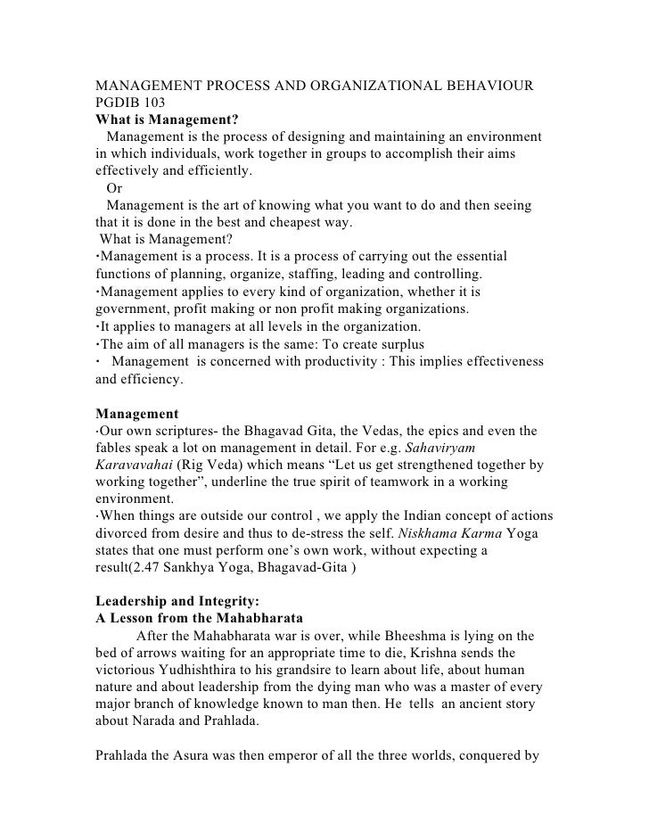 mba management process and organisation behaviour This workshop is designed to give participants an enhanced understanding on conflict resolution through a review on conflict resolution techniques and reflection on conflict management styles it provides them with insight into their personal negotiation style, and necessary actions required at each phase of the process.