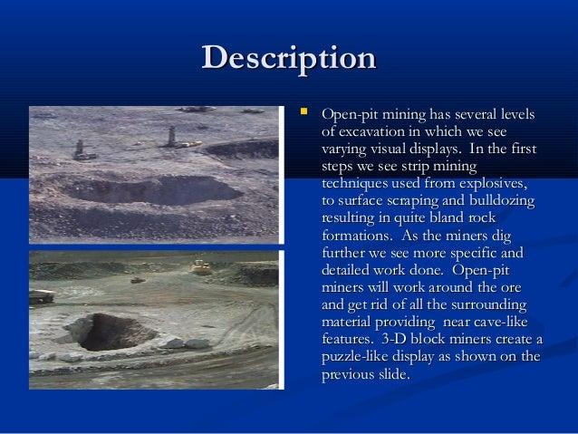 Open Pit Mining Process Description  Open-pit Mining