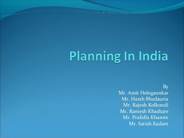 Planning in India