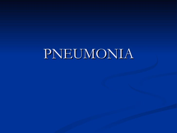 Copy of pneumonia