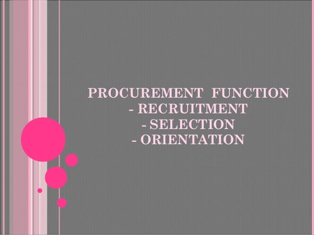 Recuitment, Selection, Induction