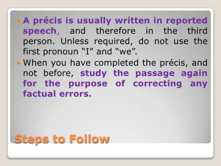 precis writing tips