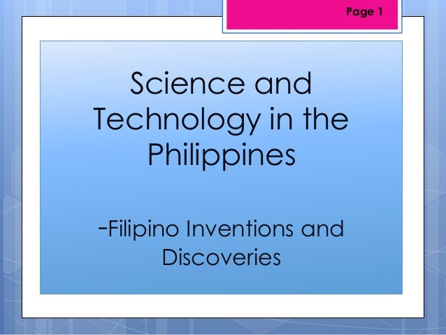 Filipino Inventions and Discoveries