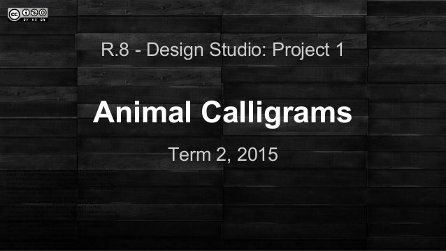 Copy of  room8 design studio - project 1- animal calligram
