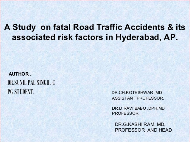 Paper presentation _Road Traffic accidents.