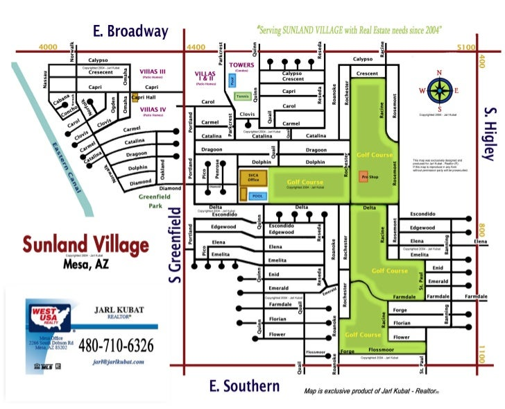 Sunland Village - Community Map