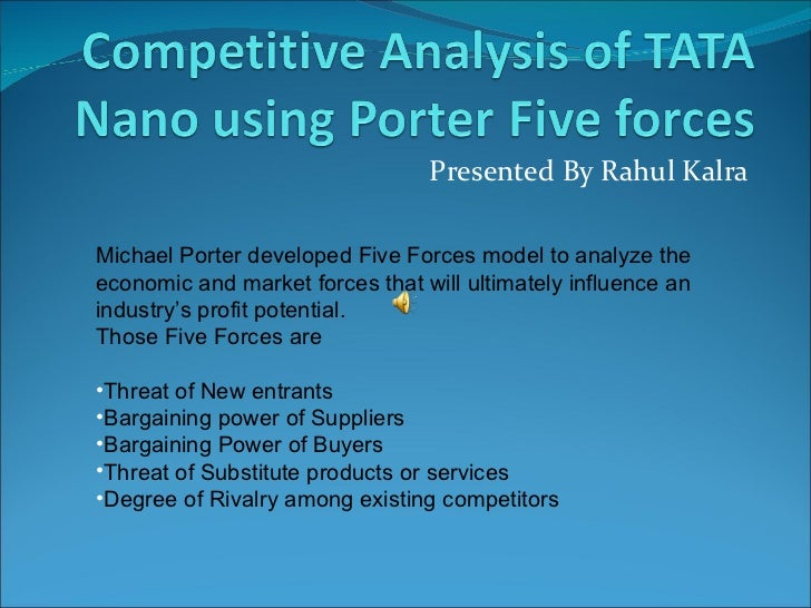 porter s five forces analysis of tata truck industry Picard's pest and porter's analysis the pontetial of a french company expanding into the uk picard's pest and porter's analysis porter´s five forces analysis.