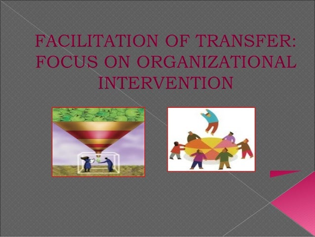 Facilitation of Training Transfer