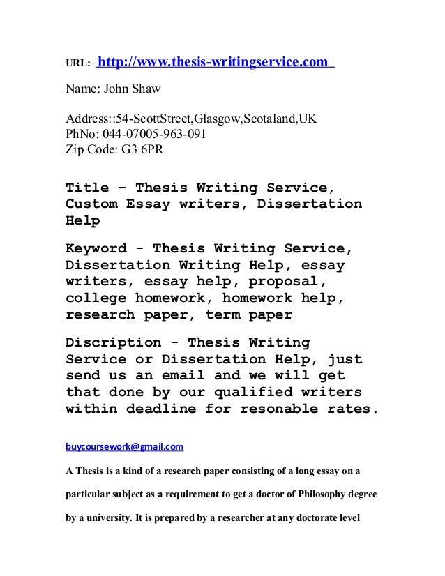 Custom Essay writers