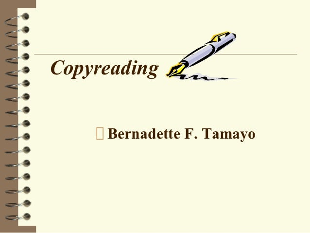 Copyreading
