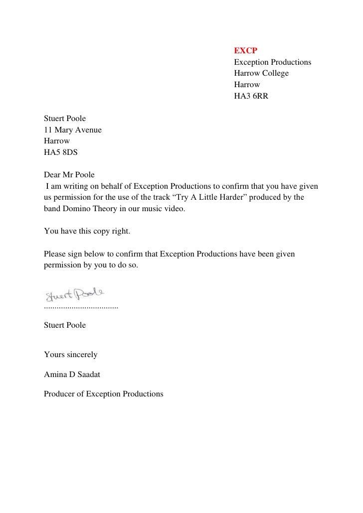 EXCP<br />Exception Productions<br />Harrow College<br />Harrow<br />HA3 6RR<br />Stuert Poole <br />11 Mary Avenue<br />H...