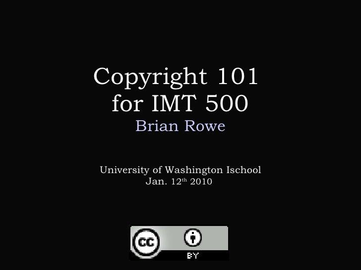 Copyright 101 Imt 550