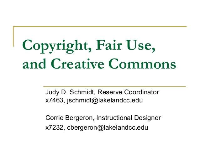 Copyright fair use-cc