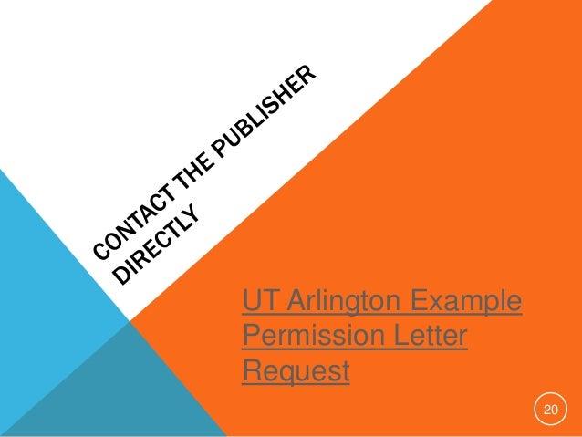 Dissertation copyright permission