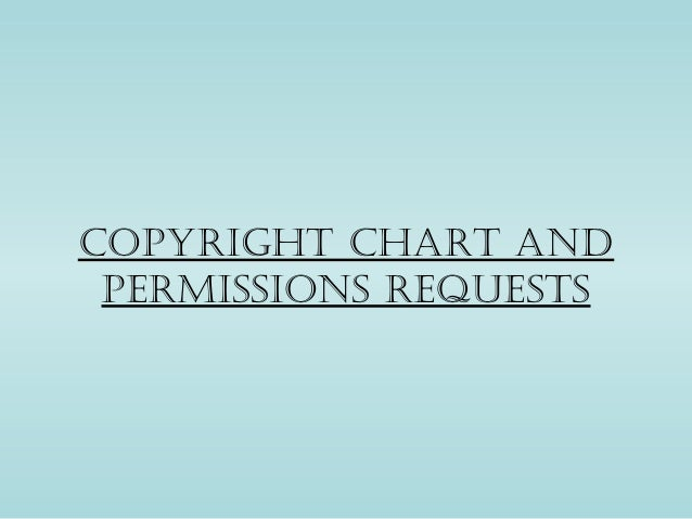 Copyright chart and permissions requests