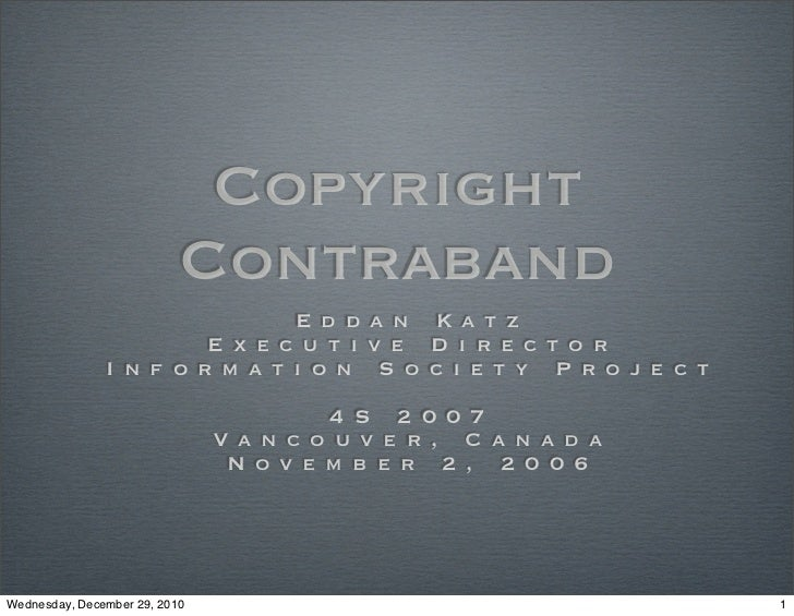 Copyrightcontraband
