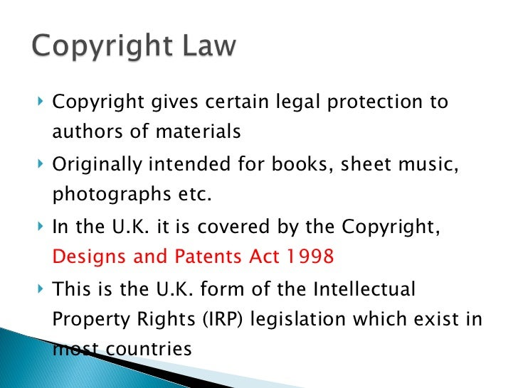 Designs And Patents Act  Intellectual Property
