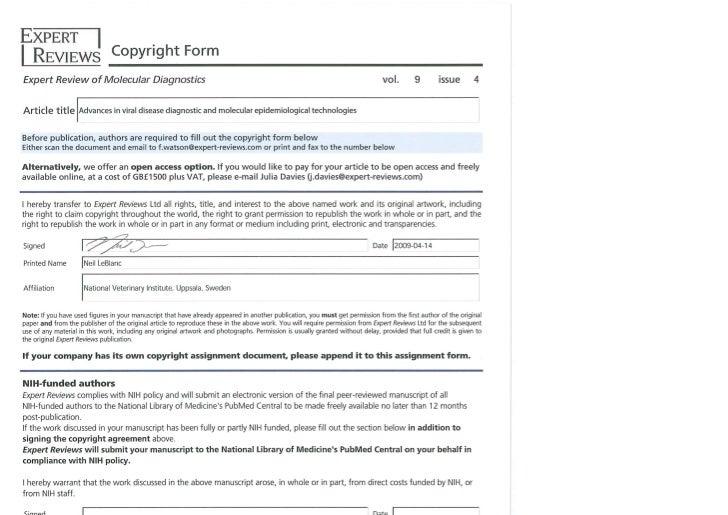 Copyrightform ermd2009