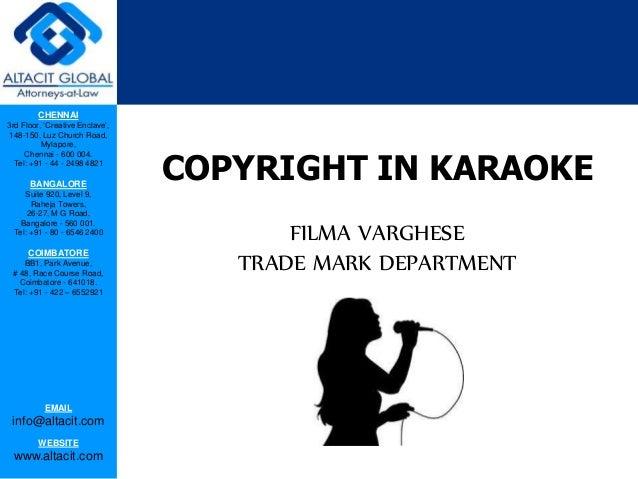 Copyright in karaoke