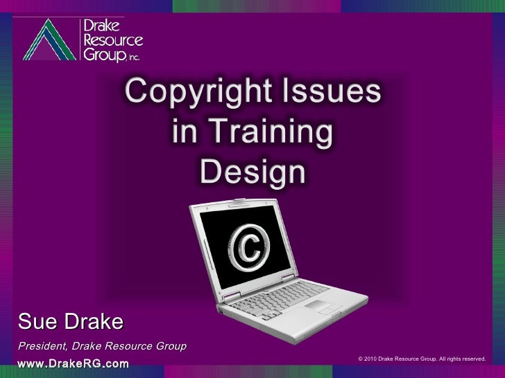 Copyright Issues in Training Design