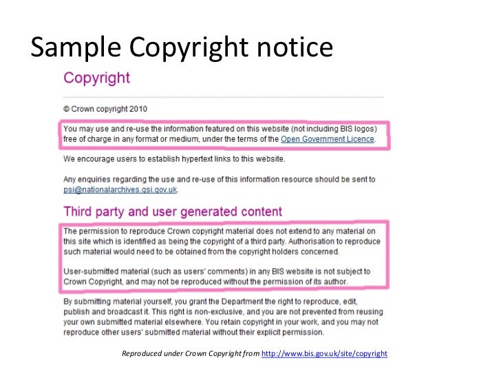 Doc575709 Copyright Notice Template Copyright Notice Format – Copyright Notice Template