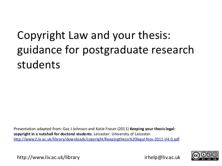 Copyright law and your thesis