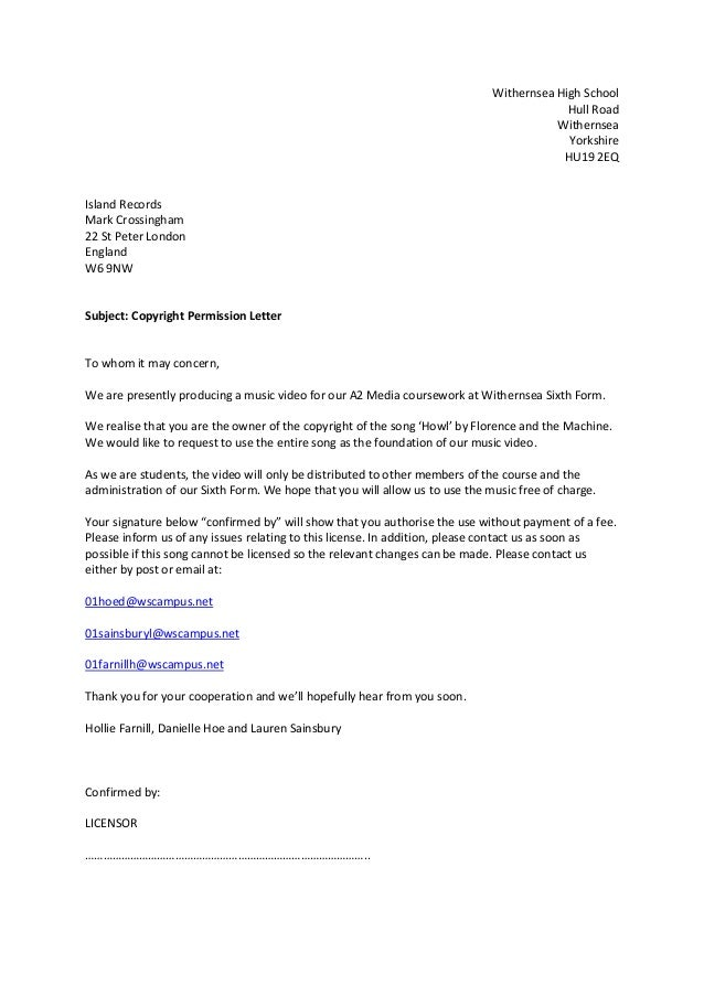 Consent Letter Sle Research